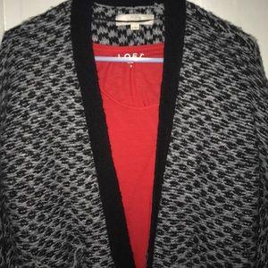 Beautiful Loft fringe sweater/cardigan